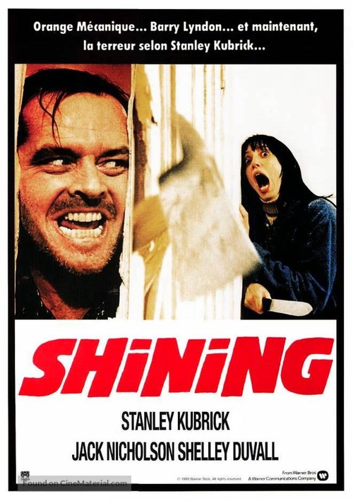 The Shining - French Movie Poster