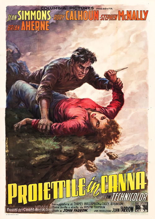 A Bullet Is Waiting - Italian Movie Poster
