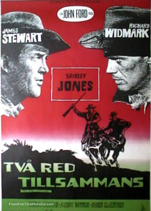Two Rode Together - Swedish Movie Poster