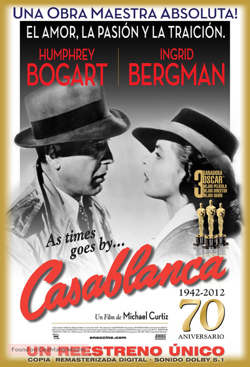 Casablanca - Uruguayan Movie Poster