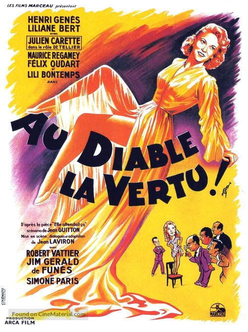 Au diable la vertu - French Movie Poster