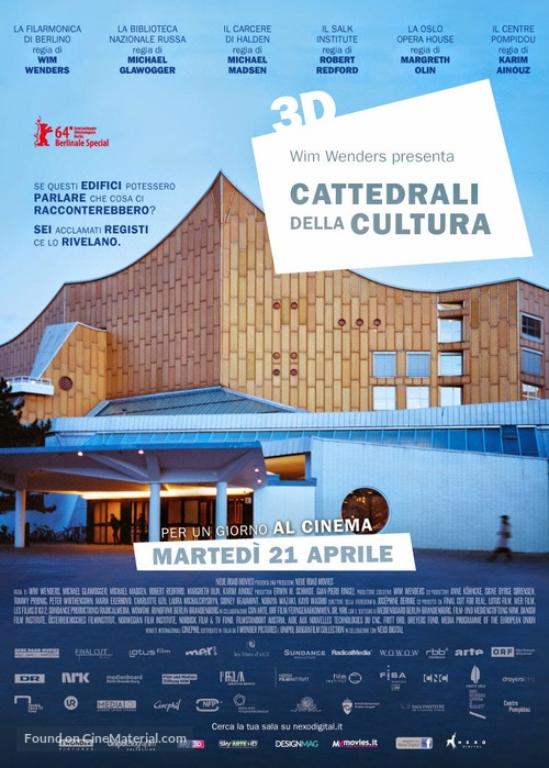 """""""Cathedrals of Culture"""" - Italian Movie Poster"""