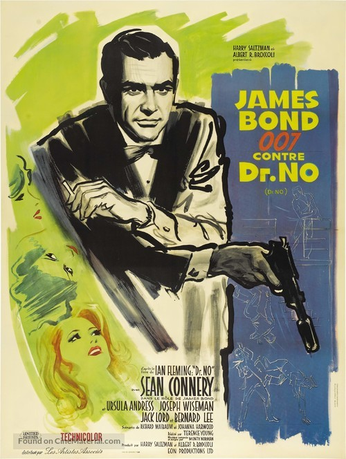 Dr. No - French Theatrical poster