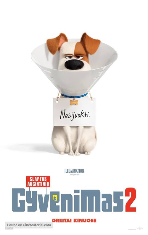 The Secret Life of Pets 2 - Lithuanian Movie Poster