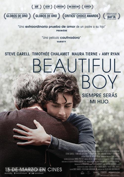 Beautiful Boy - Spanish Movie Poster