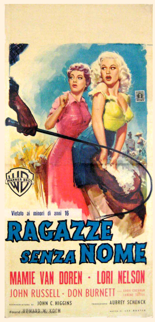 Untamed Youth - Italian Movie Poster