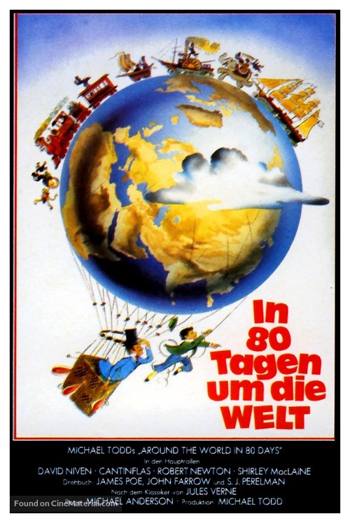 Around the World in Eighty Days - German Movie Poster