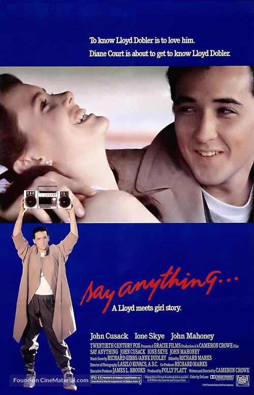 Say Anything... - Theatrical movie poster