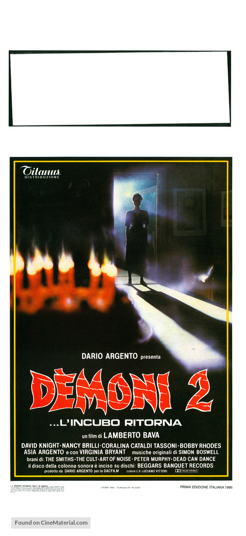Demoni 2 - Italian Movie Poster
