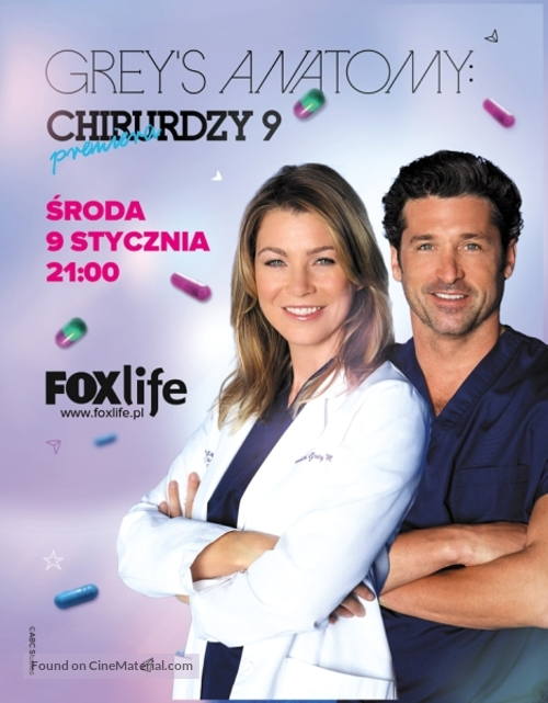 """Grey's Anatomy"" - Polish Movie Poster"