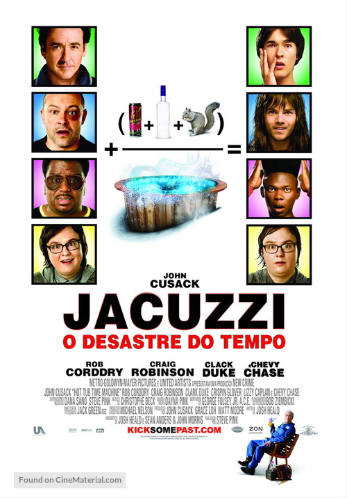Hot Tub Time Machine - Portuguese Movie Poster