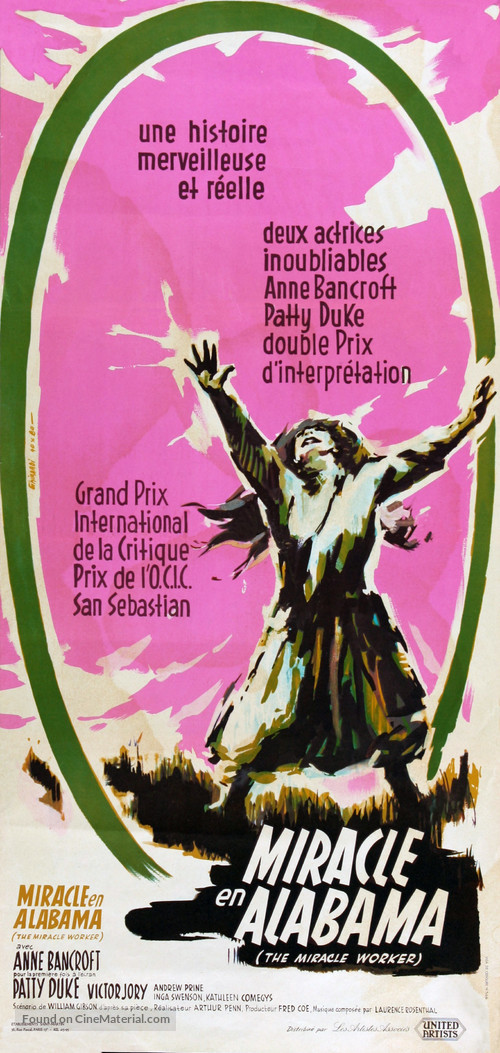 The Miracle Worker - French Movie Poster