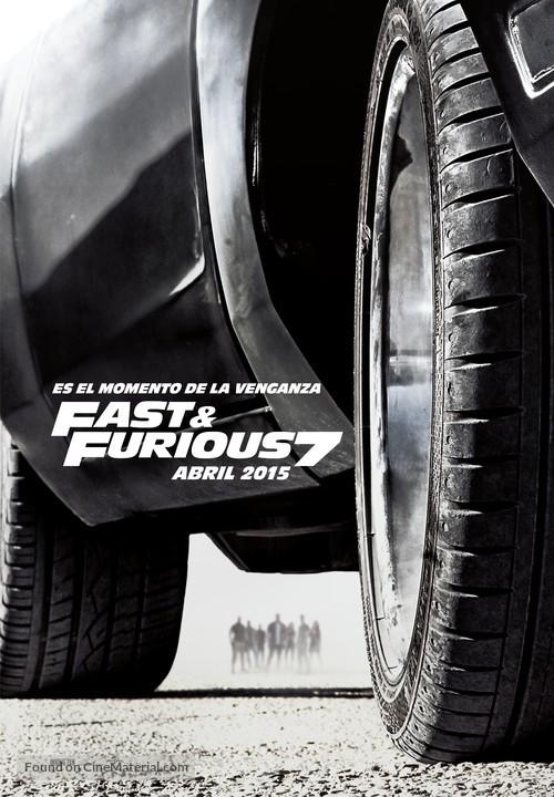 Furious 7 - Spanish Movie Poster