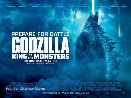 Godzilla: King of the Monsters - British Movie Poster