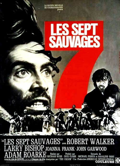 The Savage Seven - French Movie Poster