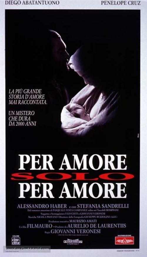 Per amore, solo per amore - Italian Movie Poster
