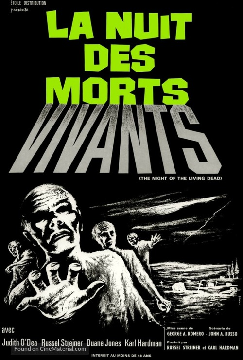Night of the Living Dead - French Movie Poster