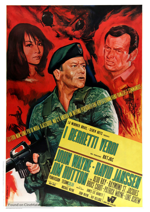 The Green Berets - Italian Movie Poster