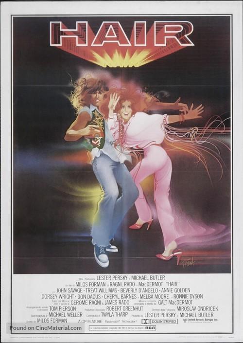 Hair - Italian Theatrical movie poster
