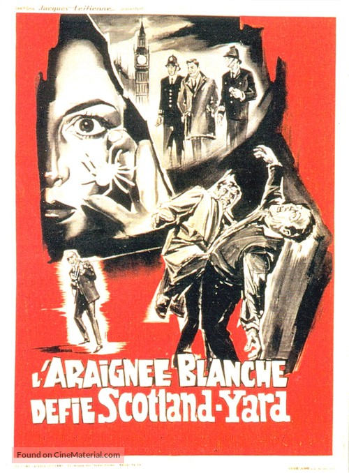 Die weisse Spinne - French Movie Poster