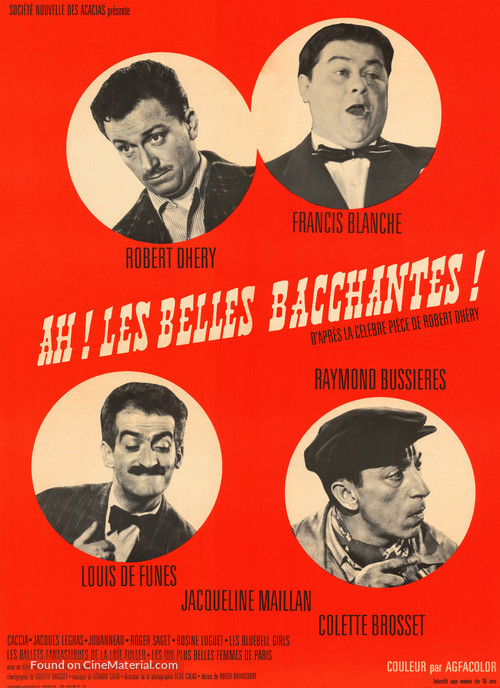 Ah! Les belles bacchantes - French Movie Poster