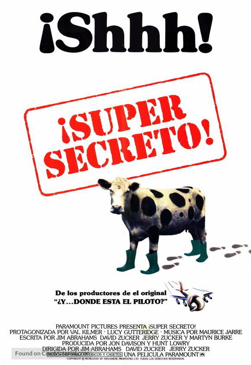 Top Secret - Argentinian Movie Poster
