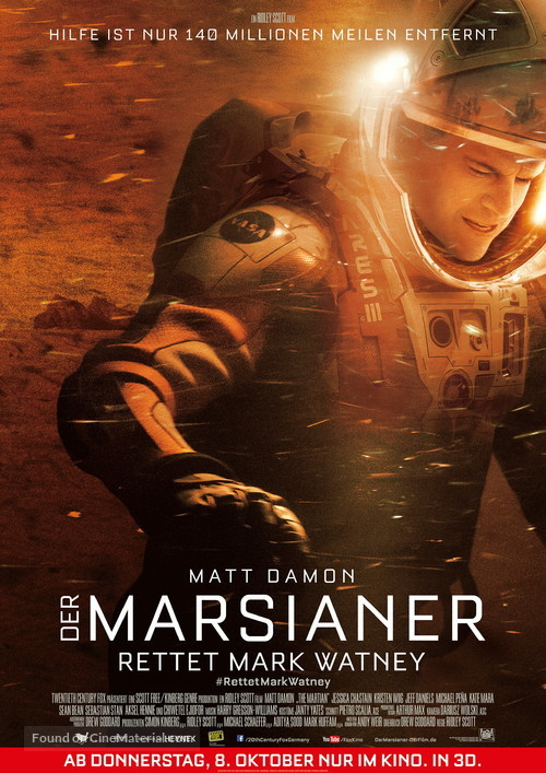 The Martian - German Movie Poster