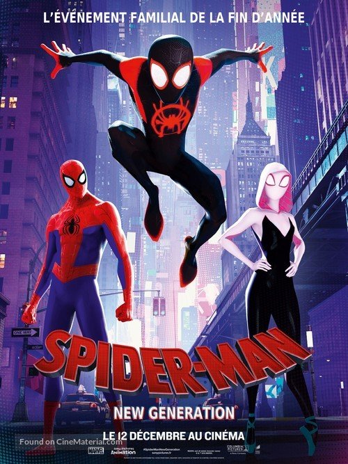 Spider-Man: Into the Spider-Verse - French Movie Poster