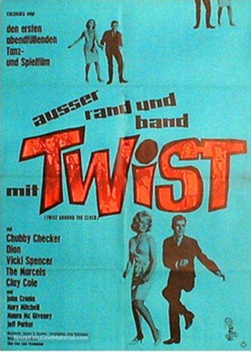 Twist Around the Clock - German Movie Poster