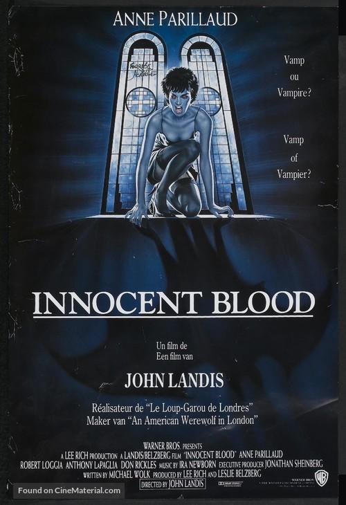 Innocent Blood - Belgian Movie Poster