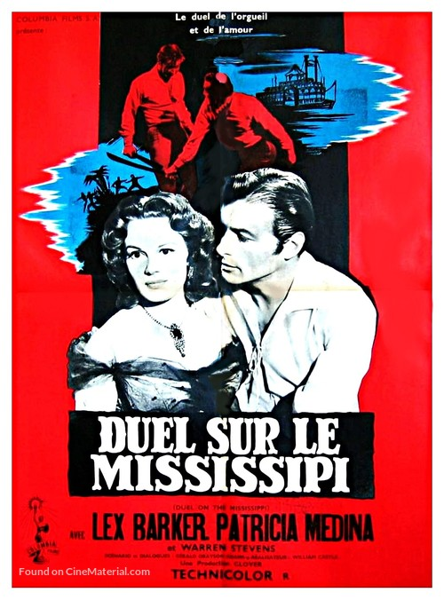 Duel on the Mississippi - French Movie Poster