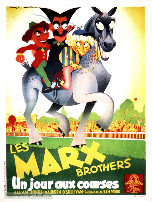 A Day at the Races - French Movie Poster