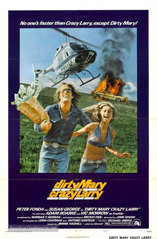 Dirty Mary Crazy Larry - Theatrical poster