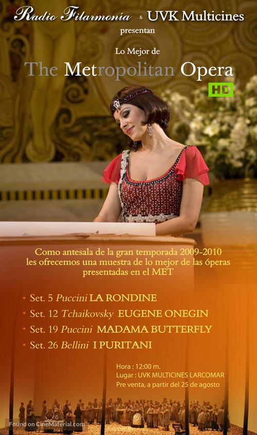 """Metropolitan Opera: Live in HD"" - Spanish Movie Poster"