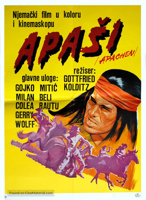 Apachen - Yugoslav Movie Poster