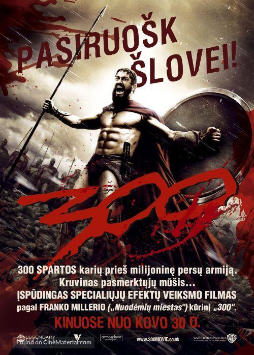 300 - Lithuanian Movie Poster
