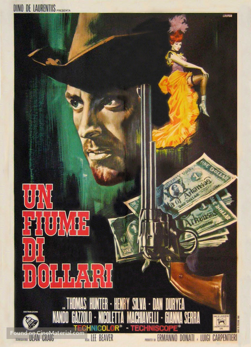 Fiume di dollari, Un - Italian Movie Poster