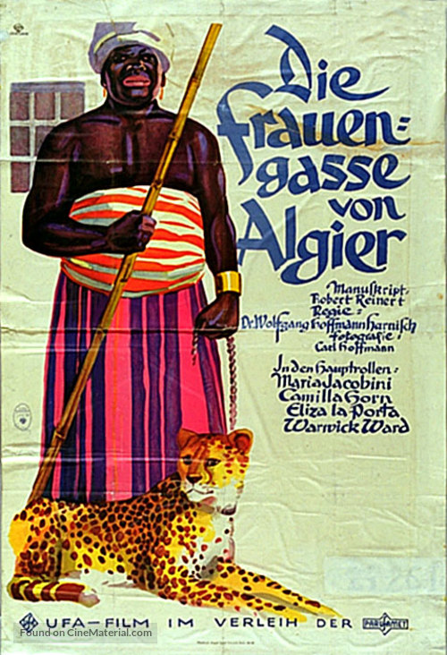 Die Frauengasse von Algier - German Movie Poster