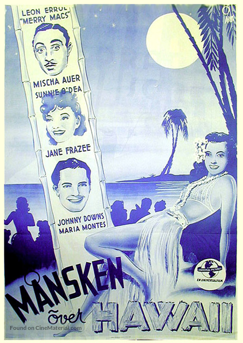 Moonlight in Hawaii - Swedish Movie Poster