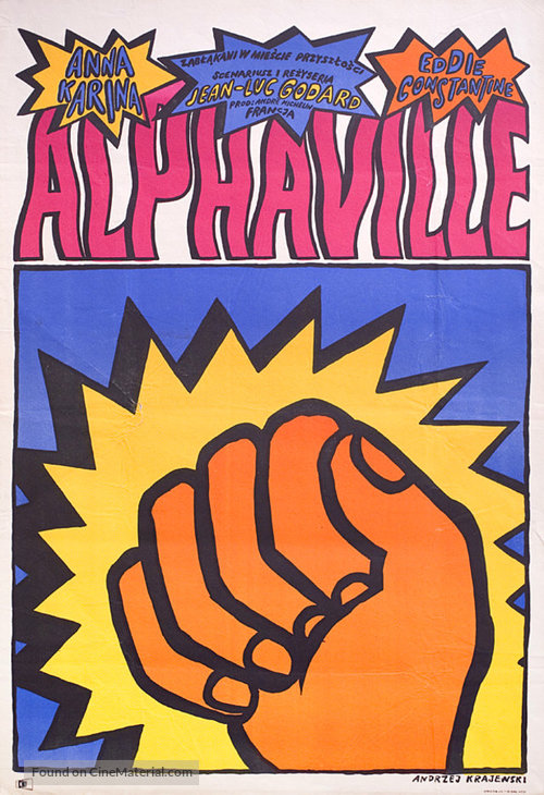 Alphaville, une étrange aventure de Lemmy Caution - Polish Movie Poster