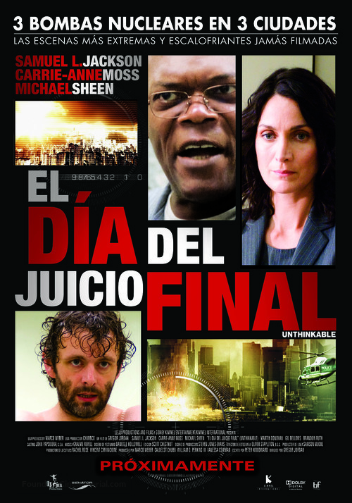 Unthinkable - Peruvian Movie Poster
