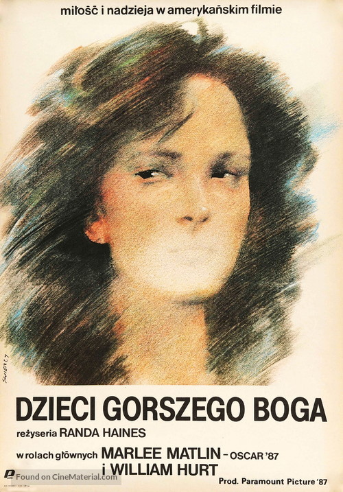 Children of a Lesser God - Polish Movie Poster