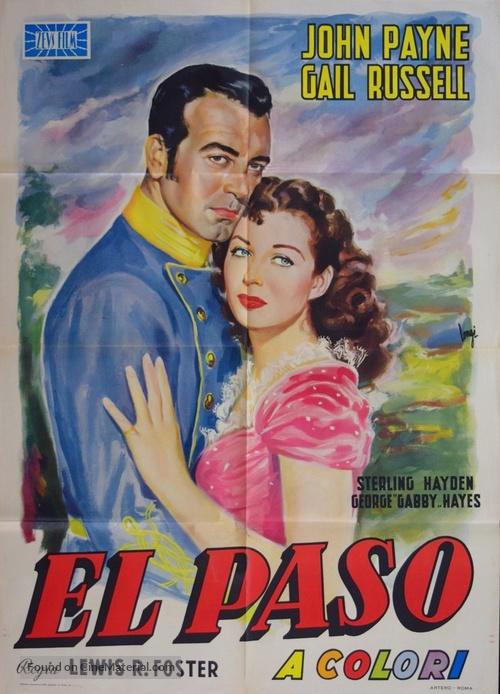 El Paso - Italian Movie Poster