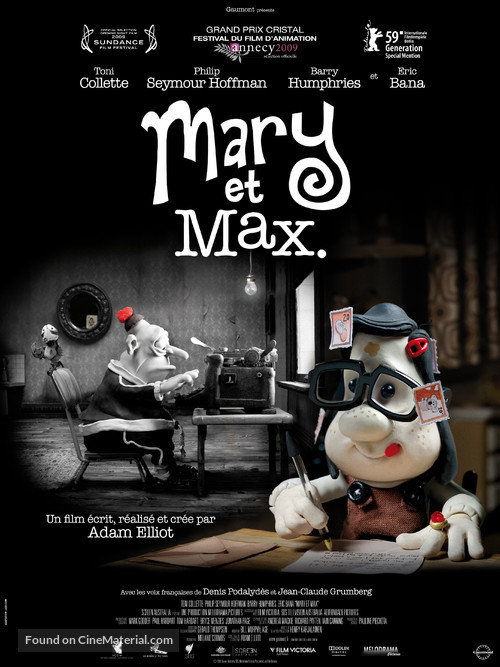 Mary and Max - French Movie Poster