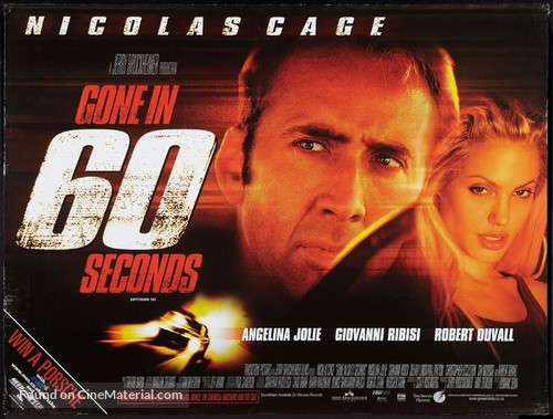 Gone In 60 Seconds - British Movie Poster
