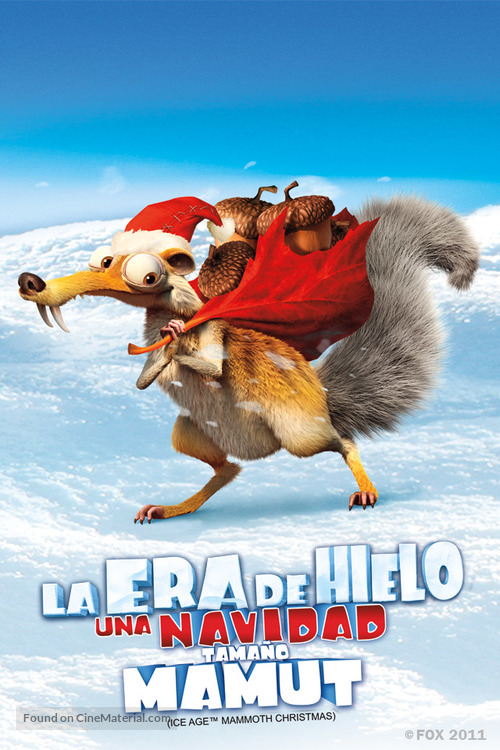 Ice Age: A Mammoth Christmas - Mexican Movie Poster