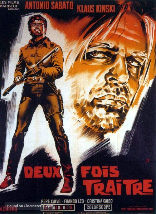 Due volte Giuda - French Movie Poster