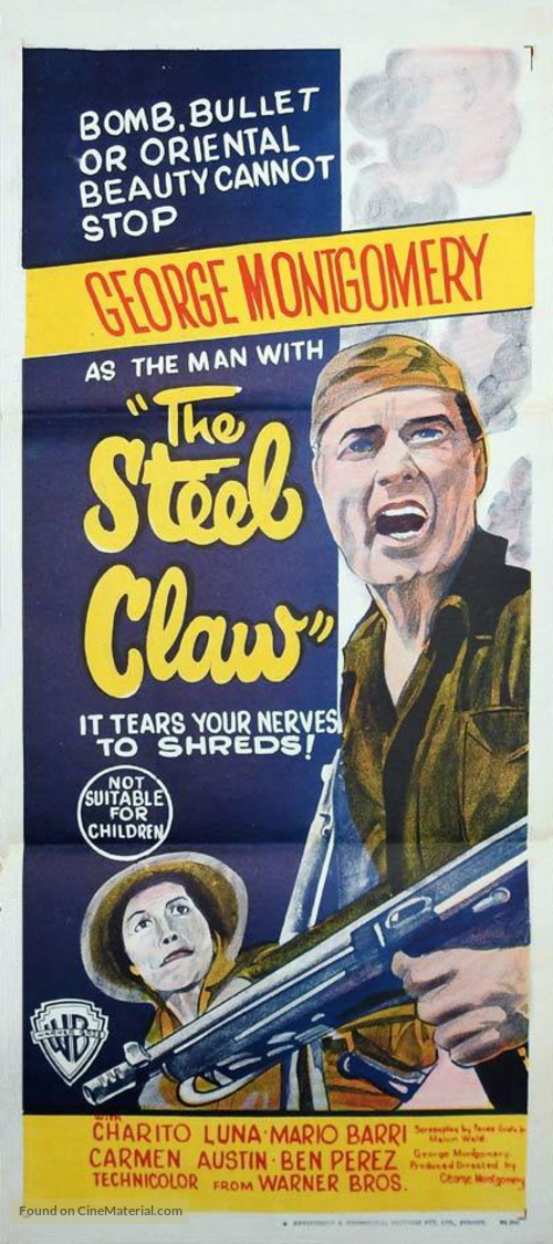 The Steel Claw - Australian Movie Poster
