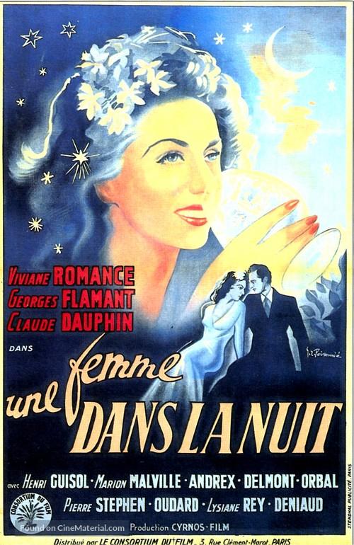 Une femme dans la nuit - French Movie Poster