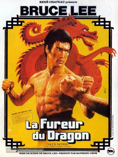 Meng long guo jiang - French Movie Poster